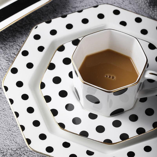 Couture Black and White Ceramic Afternoon Tea Set