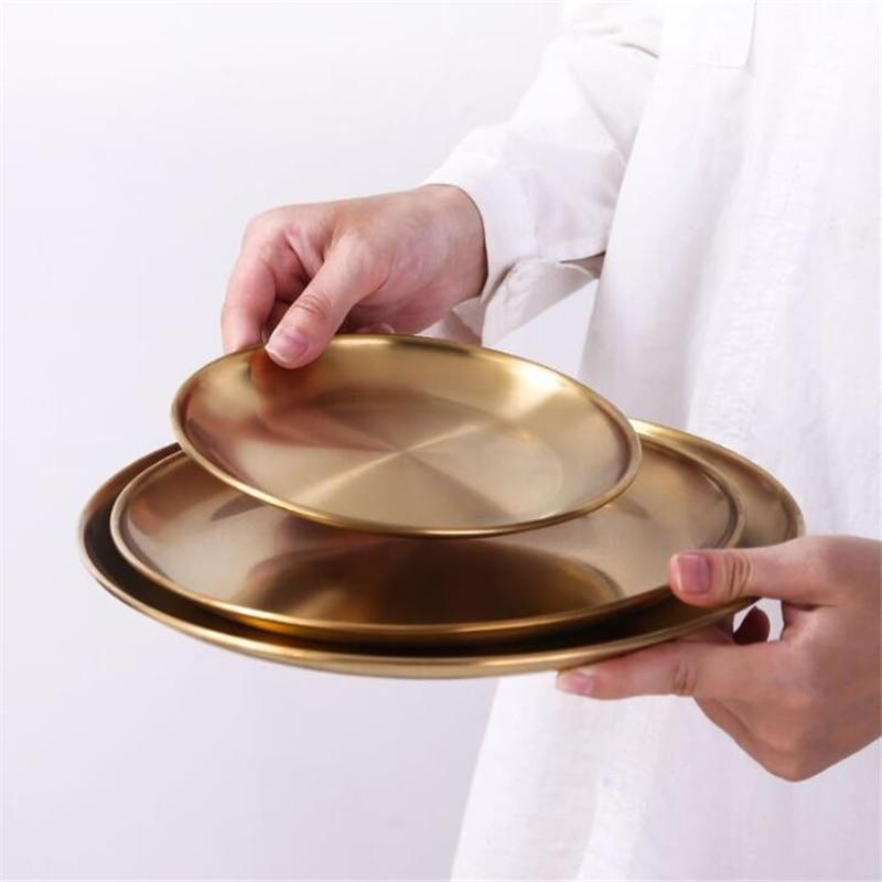 Brushed Gold Dining Plates