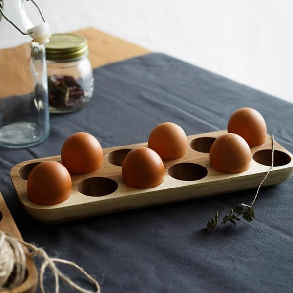 Japanese Acacia Wooden Egg Tray