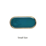 Gold-Plated Oval Tray