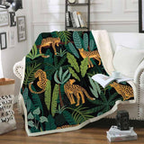 Tropical Leopard Throw Blanket