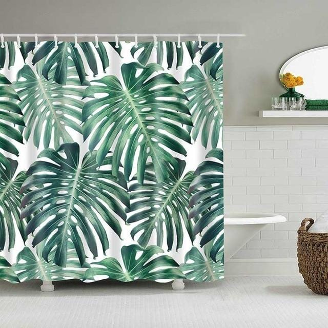Tropical Bathroom Curtain