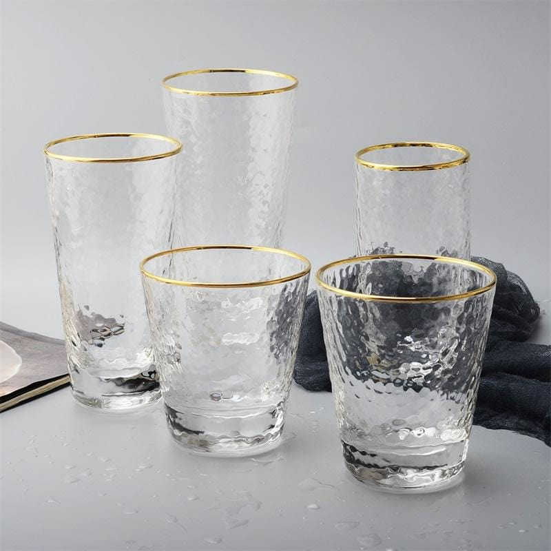 Gold-Rimmed Glassware Collection