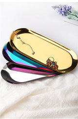 Polished Gold Oval Tray