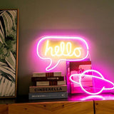 Hello Neon Wall Art