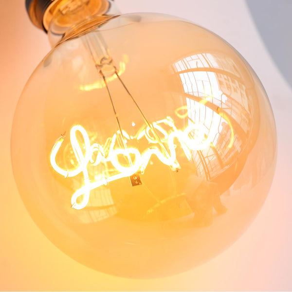 """LOVE"" Retro Edison Light Bulb, LED Filament"