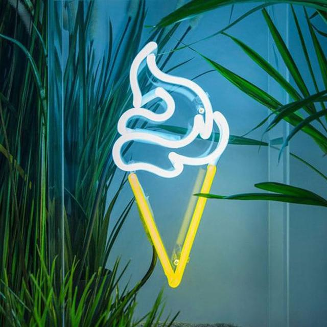 Ice Cream Neon Wall Art