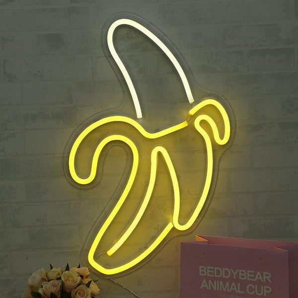 Banana Neon Wall Art