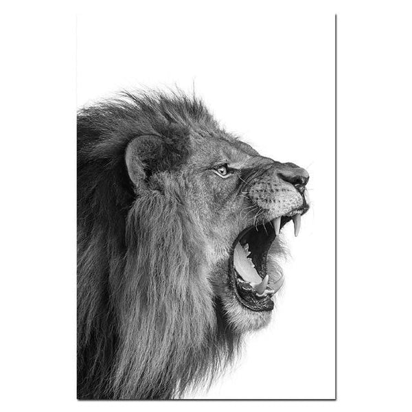 Lion + Lioness Canvas Portraits
