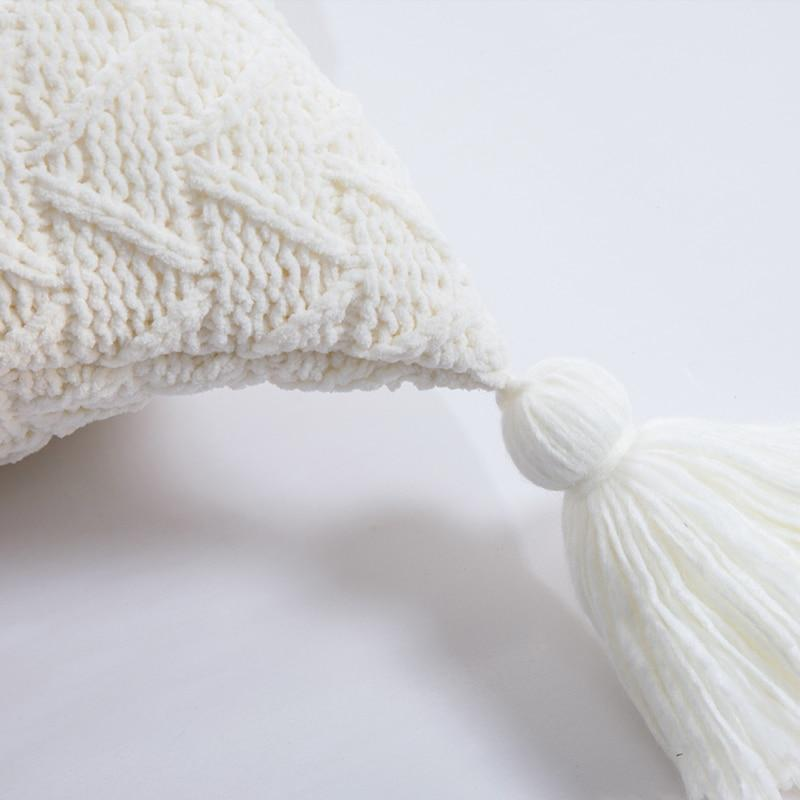 Soft Knit Tassel Cuhion Cover