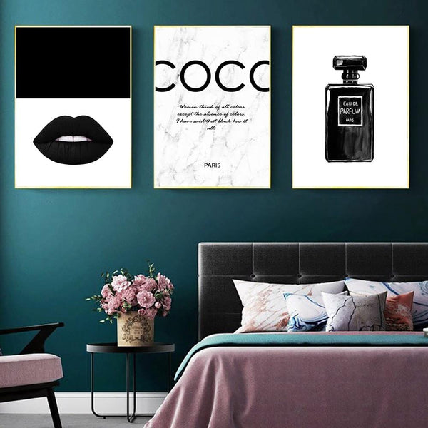 Coco Noir Canvas Collection