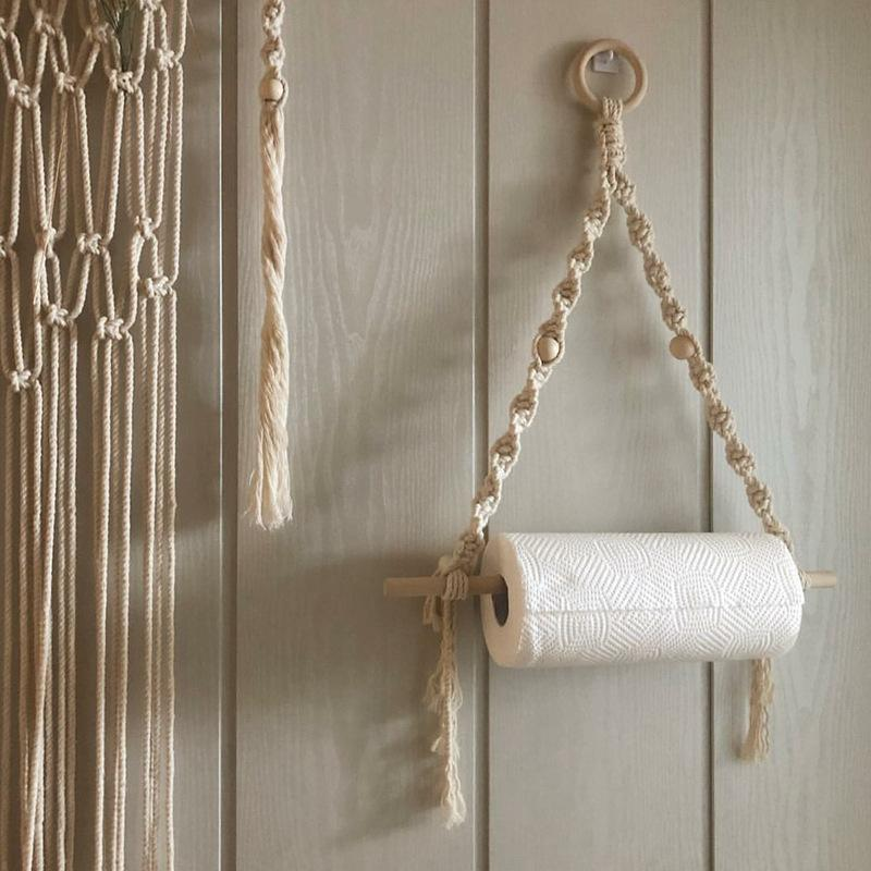 Macramé Paper Towel Holder