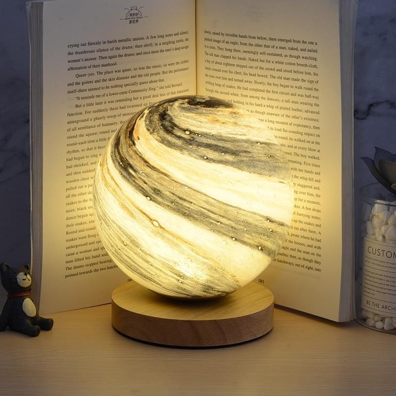 Marble Planet Bedroom Table Night Lamp