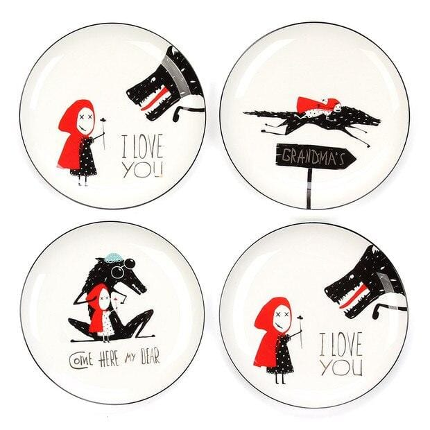 Little Red Riding Hood Plates Collection