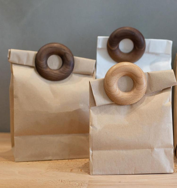 Wooden Doughnut Bag Clip