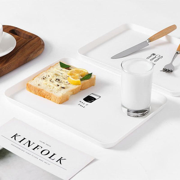 Modern White Table Tray with Witty Quotes