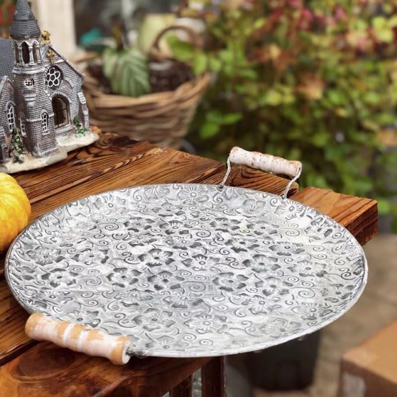 Floral Pattern Antique Serving Tray