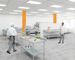 commercial, licensed kitchen facility.