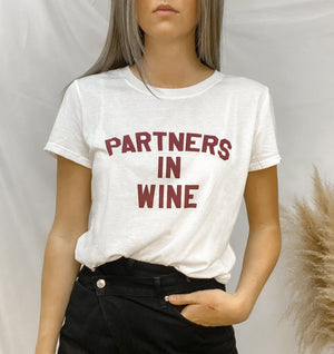 PARTNERS IN WINE GRAPHIC TEE