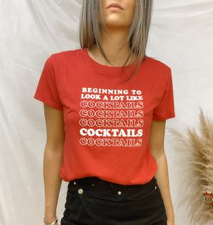 COCKTAILS HOLIDAY GRAPHIC TEE
