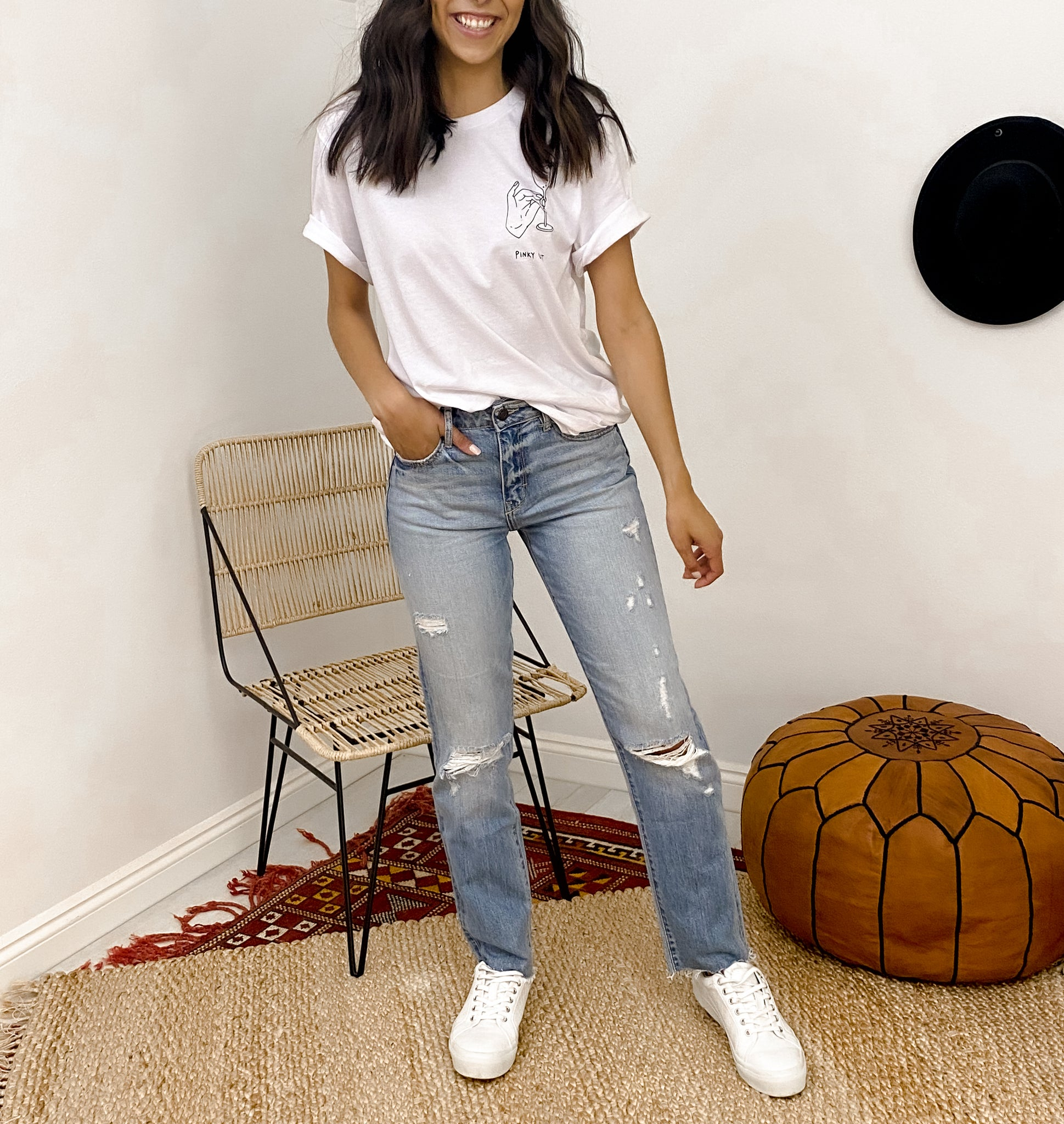 PRESLEY CROPPED DISTRESSED JEANS