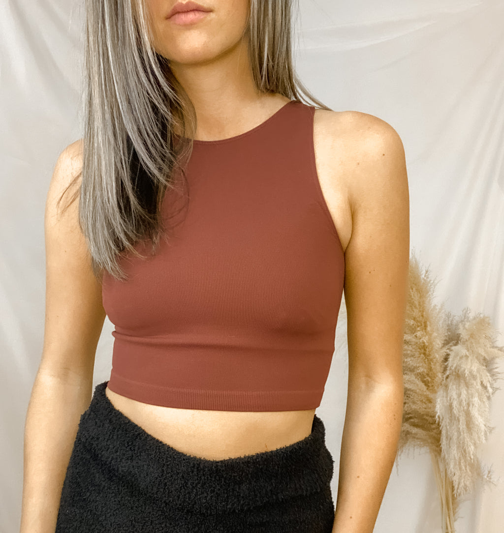 MARKS RIBBED CROP