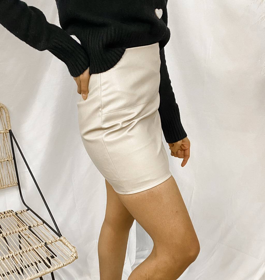 STYLES VEGAN LEATHER SKIRT