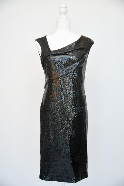 Donna Karan Cap Sleeve Sequin Dress