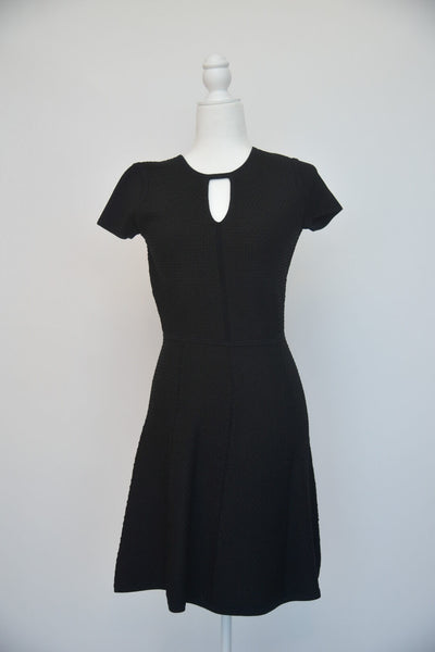 Rebecca Taylor Black Short Sleeve Stretch Dress