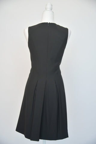 Theory Black Sleeveless Pleated Dress