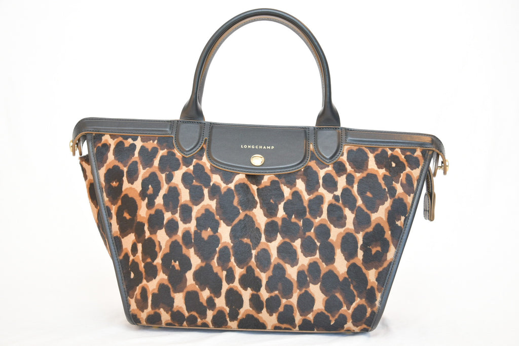 Longchamp Calf Hair Leopard Bag