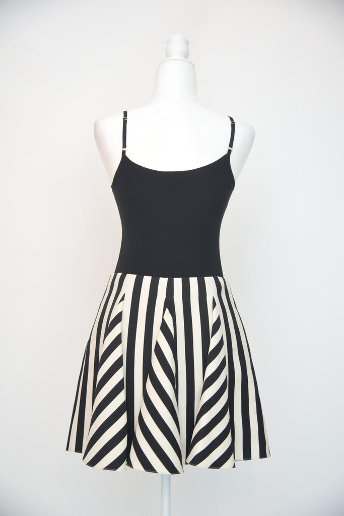 Valentino Striped Flare Mini Skirt