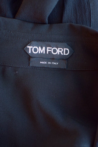 Tom Ford Black Snap Blouse