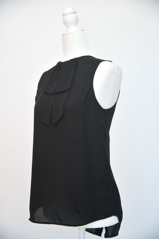 Theory Sleeveless Blouse with Bow