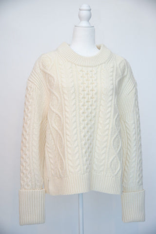 Michael Kors Bone Cable Knit Sweater