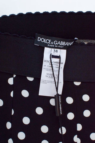 Dolce & Gabbana Black and White Polka Dot Pant