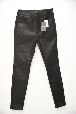 Saint Laurent Black Coated Denim