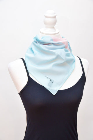 Chanel Bandana (Light Green/Pink)