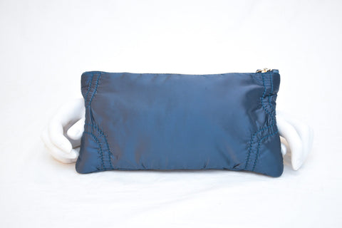 Tod's Blue Zip Rectangle Pouch