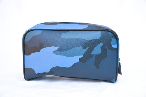 Coach Blue Camo Travel Zip Pouch