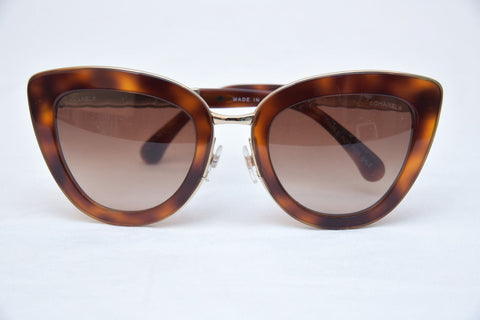Chanel Cat Eye Quilted Sunglasses