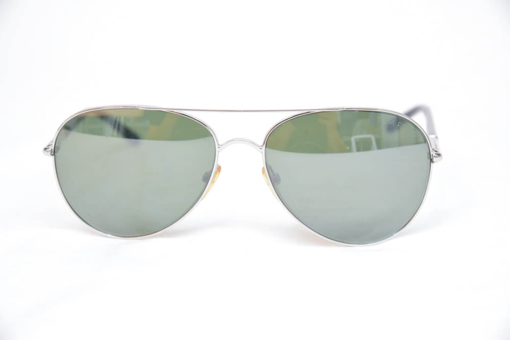 Tom Ford Silver Aviator Sunglasses