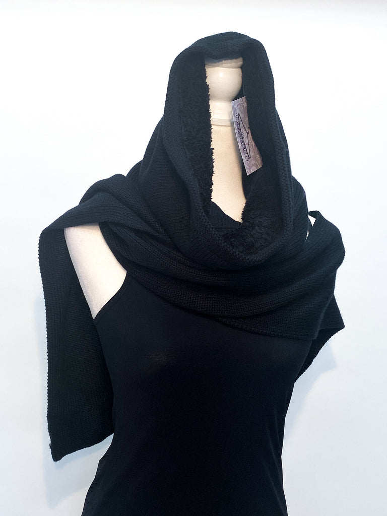 Lululemon Athletica Black Hooded Scarf