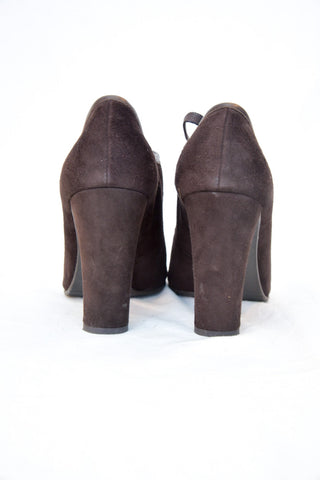 St. John Brown Suede Lace Up Pump