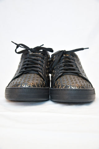 Alaia Laser Cut Leather Sneaker