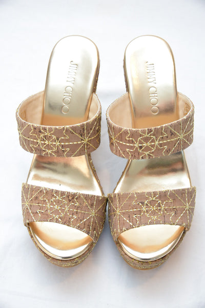 Jimmy Choo Parker 100 in Gold