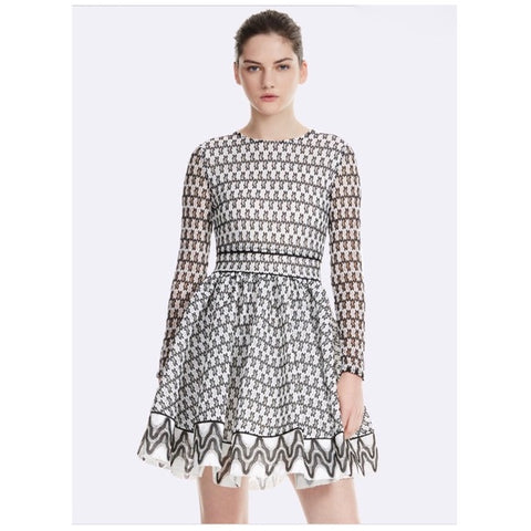 Maje Royani Bonded Lace Dress