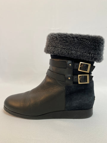 Jimmy Choo Black Shearling Bootie