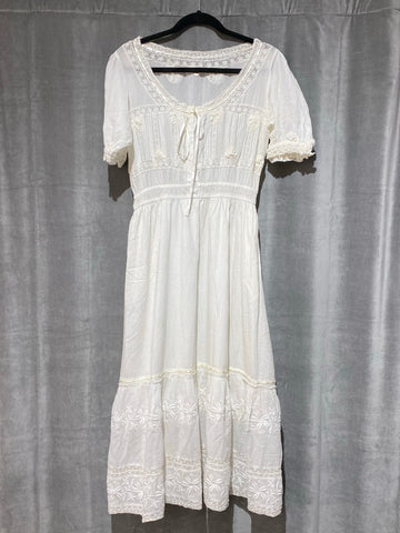 Love Shack Fancy Wendy: White Eyelet Dress