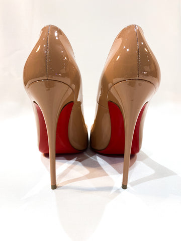 Christian Louboutin So Kate 120 Patent Leather in Nude